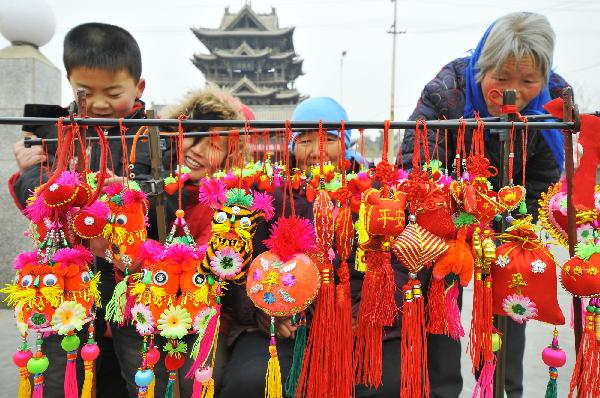 Decorations for upcoming Spring Festival