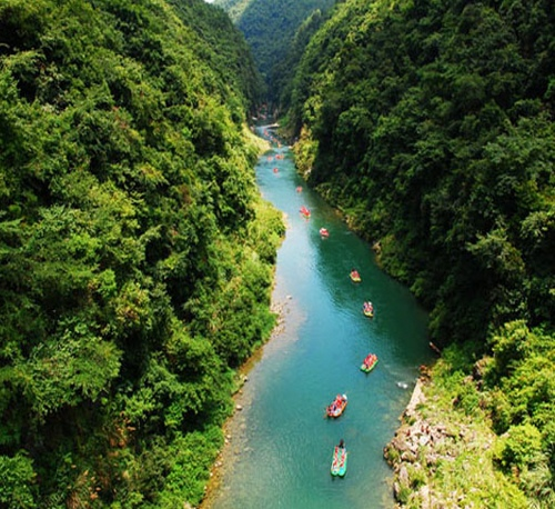 1 Day Private Tour to Furong-town and Rafting in Mengdong river