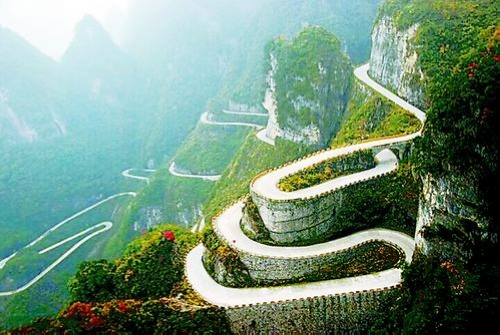 Zhangjiajie Tianmen Mountain Road
