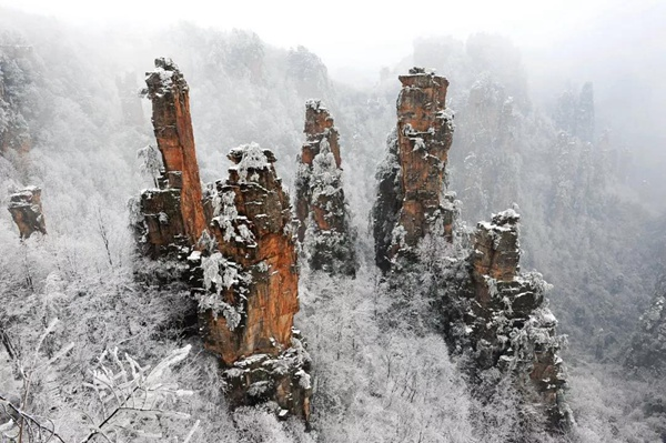 Zhangjiajie ice and snow welcomes New Year,Tourist reception is safe and orderly