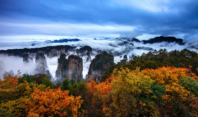 Zhangjiajie holds onto autumn